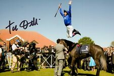More details for frankie dettori signed 6x4 photo horse racing legend autograph memorabilia + coa
