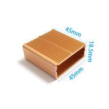 Aluminum enclosure MINI AMP case 18.5X45X45mm(H*W*L) DIY Coffee color NEW