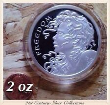 2 oz 2013 FREEDOM GIRL .999 Silver PROOF W/box SBSS