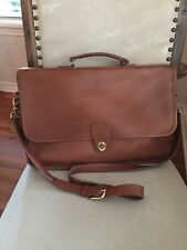 Vintage Coach Buttery Soft Leather Messenger Briefcase Bag Tan