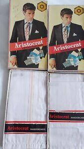 Vintage mens handkerchiefs. Aristocrat VIP Handkerchiefs. Two boxes.