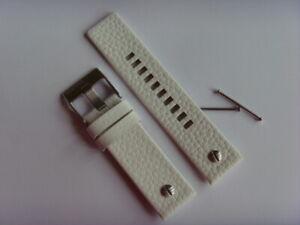 Diesel Original Spare Band Leather Wrist DZ7265 Watch White Strap 24 MM