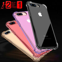 For iPhone 11 Pro Max XR 7 8Plus Case Hard Crystal Clear Shockproof Bumper Cover