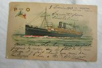 Antique Postcard, Andrew Reid P&O Liner SS Mooltan