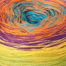200g Balls - Katia Top Rainbow Cake - Multi-colour #87 - Cotton Acrylic - $30.00