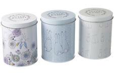 Peter Rabbit Set of 3 Storage Tins Vintage Canisters Jar Store Food Kitchen Gift