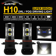 2X 9145 9140 H10 2800LM 100W CREE LED Fog Light Driving Bulbs DRL Super White AU