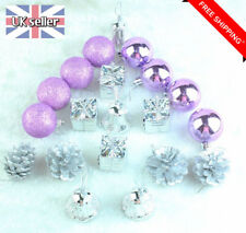 20pcs Christmas Baubles Xmas Tree Ornament Hanging Ball Decor Pine cone