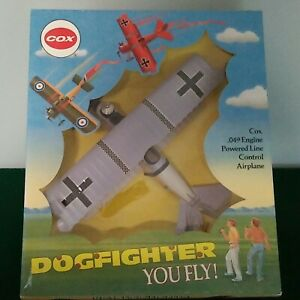 1990 Cox Dogfighter Fokker D-VII Model Airplane w/.049 Engine & Sealed Box
