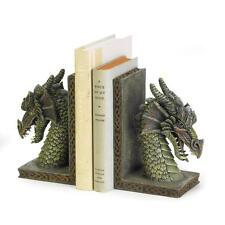Medieval Dragon Book Ends Decorative Home Decor Mythical Accent