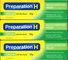 3 X Canadian PREPARATION H CREAM Bio Dyne Multi Symptom Relief 25g Exp 2022+++