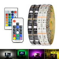 5V USB LED Strip Light 5050 0.5M-5M String Fairy Lights RGB Bar TV Back Lighting