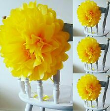 Beauty and the beast yellow chair flower birthday party table  decorations