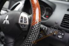 Car Steering Wheel Cover Black & Wood LOOK Effect for Jaguar S Type 99-07
