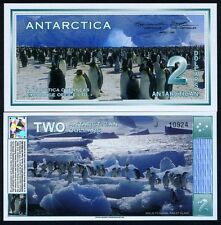 Antarctica, $2, 3-1-1996 (2009), NEW, UNC, Penguins