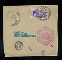 1941 Italy Cover Front to Jicin Czechoslovakia