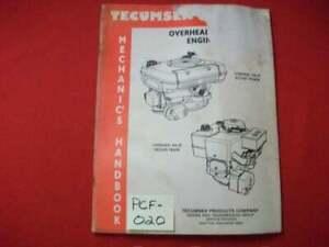 1988 TECUMSEH ENGINES MECHANIC'S HANDBOOK OVERHEAD VALVE ENGINES REPAIR, SERVICE