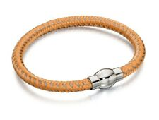 Fred Bennett Bracelet Men's Silver & Orange Nylon Bracelet Fred Bennett B4733