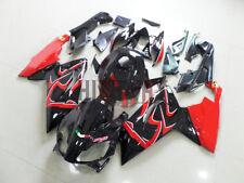 Fairings 2006-2011 For Aprilia RS125 Black Red Fairing Bodywork ABS Plastic Kit
