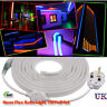 5M 5050 LED Neon Folding Strip Rope Light Tube Light Waterproof Full Set+UK Plug