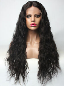 Virgin Remy Burmese and Indonesian Wavy lace Front Wig 180% Density