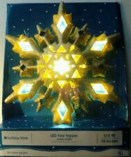 Holiday Time LED Gold Glittered Snowflake Tree Topper