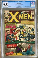 X-Men #9 (1965) CGC 2.5 -- O/w to white pgs; 1st X-Men & Avengers meet & Lucifer