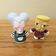 The Simpsons Kidrobot Matt Groening Lot of 2 Vinyl Figures