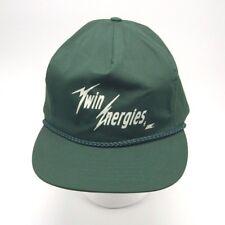 Twin Energies Inc green Ball cap hat Zip Strapback Braid Trim by Otto Cap
