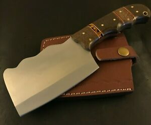 Handmade Axe/ Hatchet-Carbon Steel-Leather Sheath-Camping-Outdoors-Hiking-Mc168