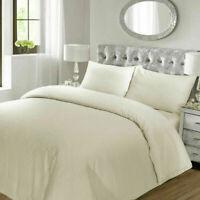 Hotel Quality Satin Stripe Cotton Blend Duvet Cover Bedding Set & Pillowcases