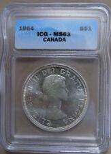 1964 canadian siver dollar MS63