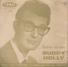 ORIGINAL EP:  BUDDY HOLLY & CRICKETS - LISTEN TO ME - UK CORAL FEP 2002