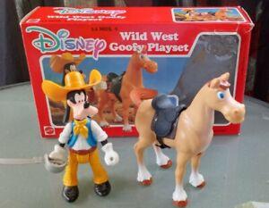 Vintage Mattel Arco Disney Wild West Goofy Playset with Poseable Figure