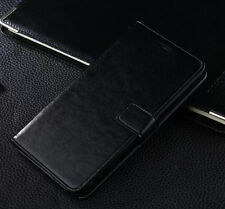 Black Genuine Leather Flip Wallet Stand Case Cover For Samsung Galaxy Note 2