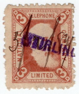 (I.B) National Telephone Company : 3d Indian Red (Stirling)