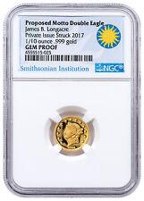 (2017) Smithsonian James Longacre 1/10 oz Gold Medal 1865 NGC Gem Proof SKU48608