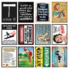 Funny, Retro Metal Signs/Plaques, Cool Novelty Gift, Quotes 13