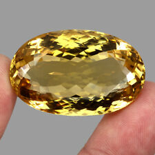 Museum Clean 108.84ct 38x24mm Oval Cut 100% Natural AAA Yellow Citrine Brazil