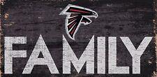 "Atlanta Falcons FAMILY Football Wood Sign - NEW 12"" x 6""  Decoration Gift"