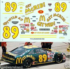 "NASCAR DECAL #89 McDONALD'S ""GET McRIB"" 1998 FORD THUNDERBIRD DENNIS SETZER"