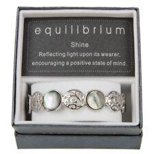 Filigree Pearl Shell Circles Elasticated Bracelet - EQUILIBRIUM RANGE