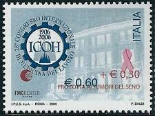 ** Italia 2006: Lotta Tumori Medicina Lavoro [ Varietà Soprastampa ] Rarissimo