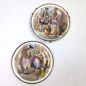 2 x Vintage LIVERPOOL ROAD POTTERY Mini Dishes Yellow Primroses Cries of London