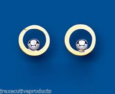 Gold Stud Earrings White and yellow Gold Studs Round Studs Earrings