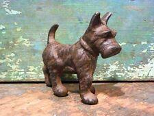 Cast Iron Metal Animal Scottie Dog Scottish Terrier Pet Figurine Home Toy Decor