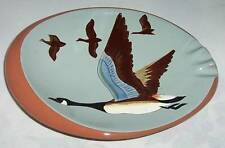 STANGL ASHTRAY CANADA GOOSE GEESE HANDPAINTED OVAL