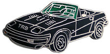 Triumph TR8 car cut out lapel pin  - Black