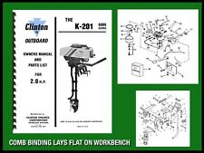 CLINTON K-201 6000 SERIES 2.0 H.P. OUTBOARD MOTOR OWNERS MANUAL AND PARTS LIST