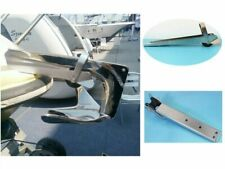 Stainless Steel Boat Bow Anchor Roller Self Launching Rubber Rollers Heavy Duty
